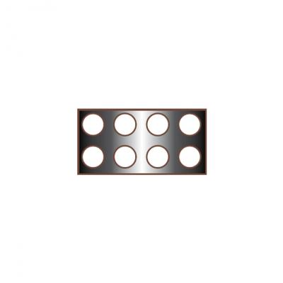 Rectangular Base w/8 Holes-175x350mm