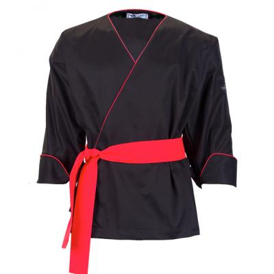 [clearance sale] Japanese Chef's Jacket - Black & Red